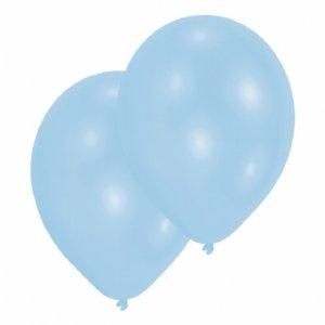 Ljusblå latex ballonger 8-pack