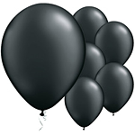 Svarta latex ballonger 6-Pack