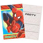 Inbjudningskort Spindelmannen