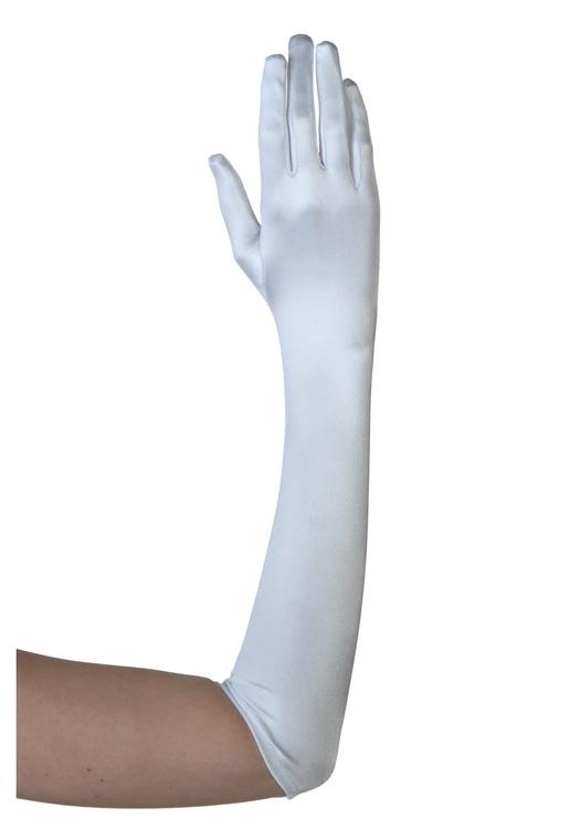 Långa vita handskar Deluxe Maskerad