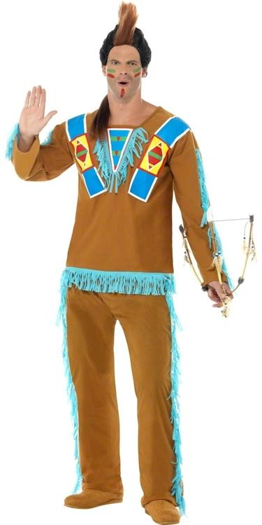 Indian krigare Maskeraddräkt