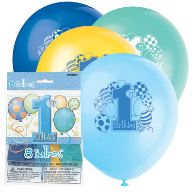 1 års ballonger 8-pack