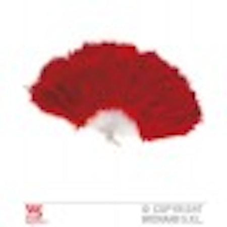 Solfjäder med fjädrar Svart Mörkrosa Ljusrosa Röd Maskerad