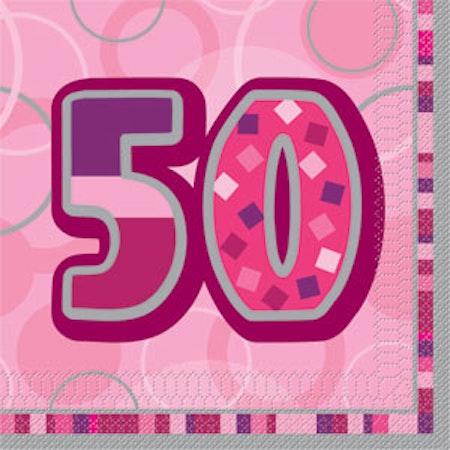 50 års servetter 16-pack