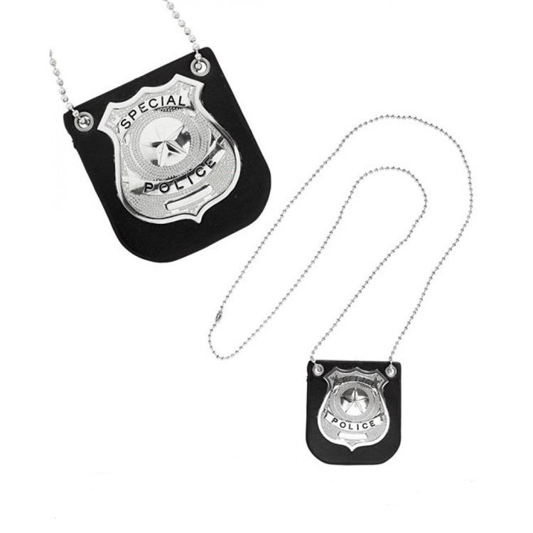 Polisbricka halsband
