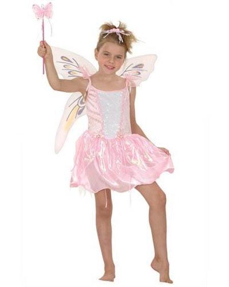 Fjärilsflicka Barn Maskeradkläder