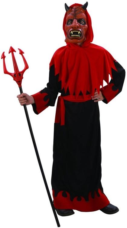 Djävul med Mask barn Maskeraddräkt