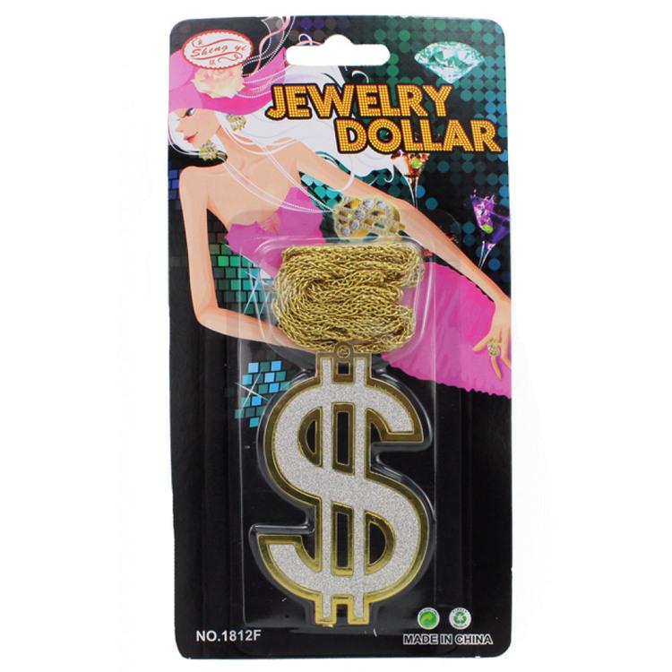 Dollar halsband Guldfärgat