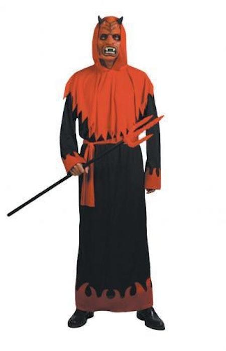 Djävul med Mask Maskeraddräkt Halloween
