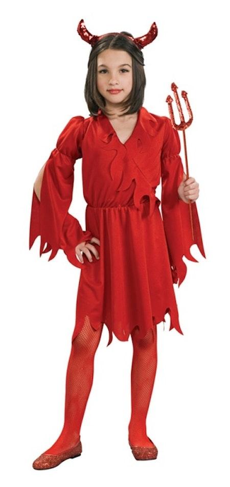 Djävulsklänning barn Maskeraddräkt Röd