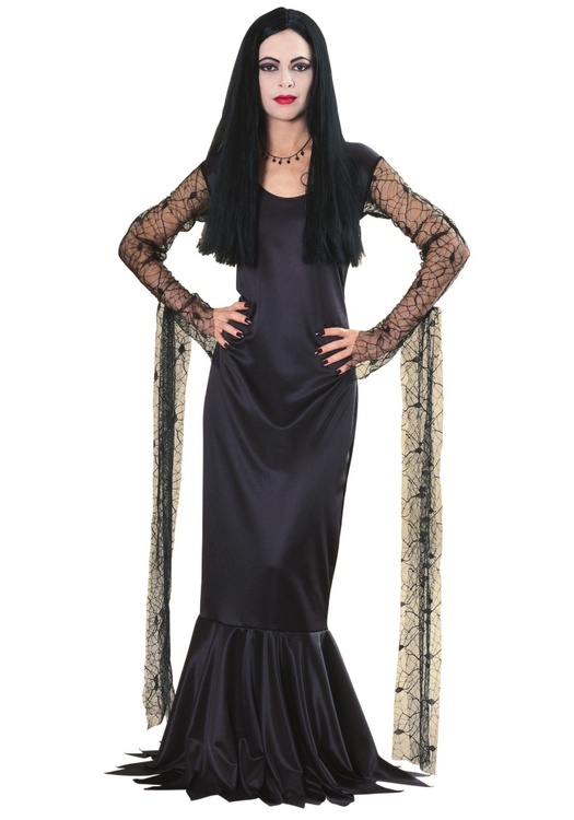 Morticia Addams Maskeraddräkt Halloween