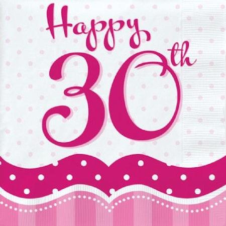 30 års servetter 18-pack