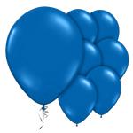 Mörkblå latex ballonger 6-Pack