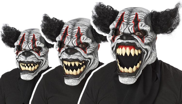 Läskig clown ansiktsmask Halloween