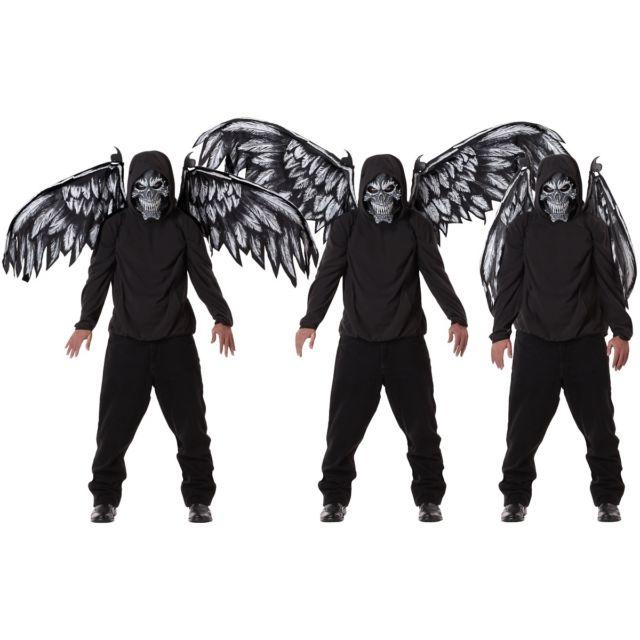 Dödsängel mask och vingar