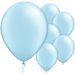 Ljusblå latex ballonger