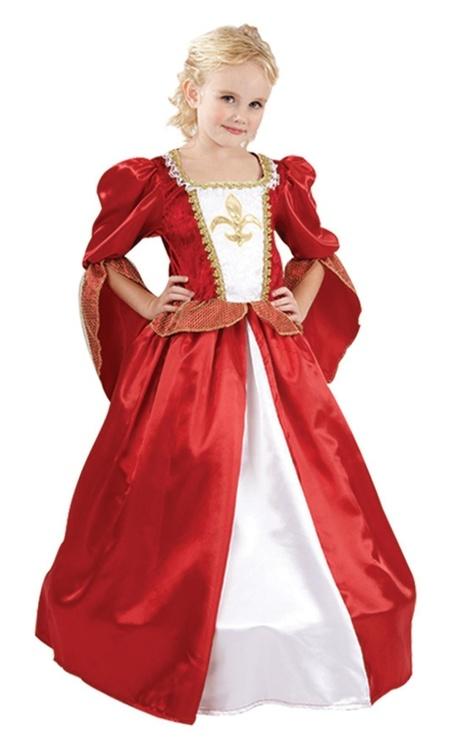 Musketördam Prinsessklänning barn Maskeraddräkt