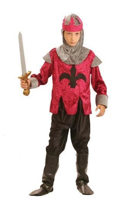 Renässans kung Riddare Barn Maskeraddräkt
