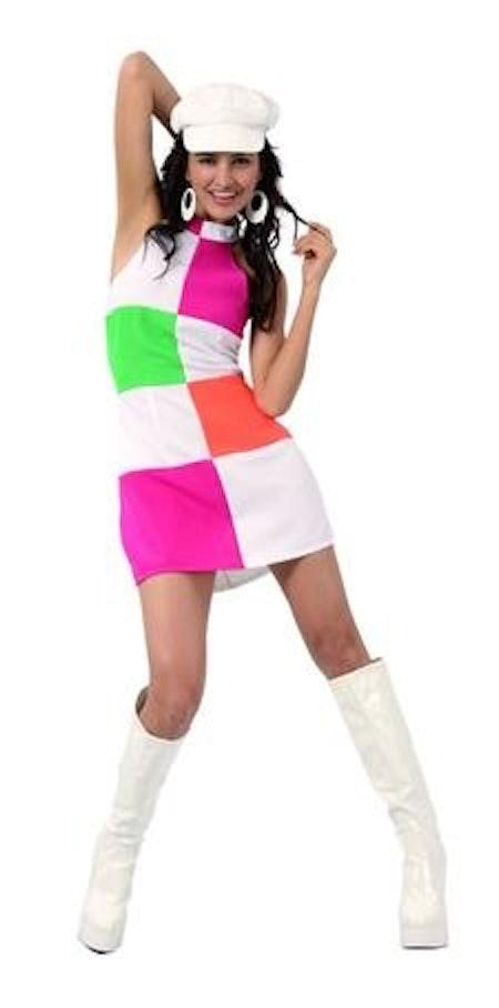 60-tals Partytjej Go Go Girl Maskeraddräkt