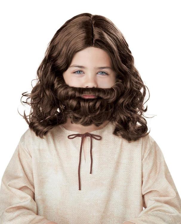 Jesus peruk och skägg barn