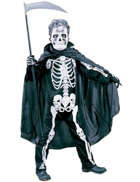 Skelettdräkt barn Maskeraddräkt O/S 100-130 cm