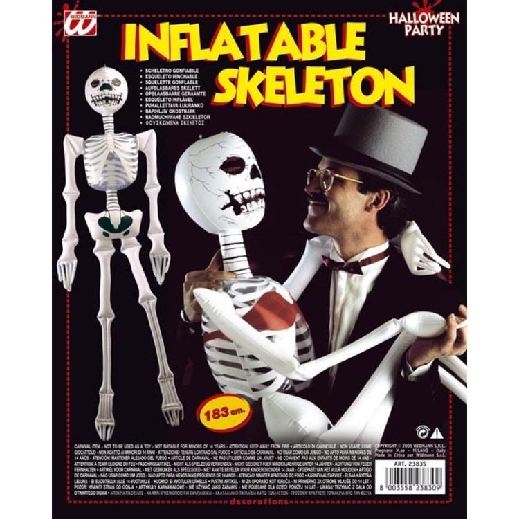 Uppblåsbar Skelett