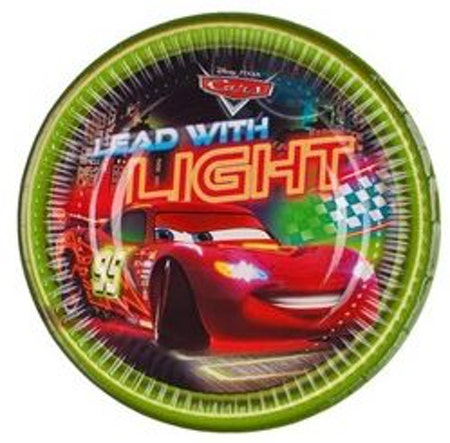 Disney Cars Bilar Neon assiett/tallrik 8-pack