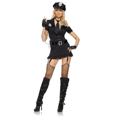 Poliskvinna Deluxe Maskeraddräkt