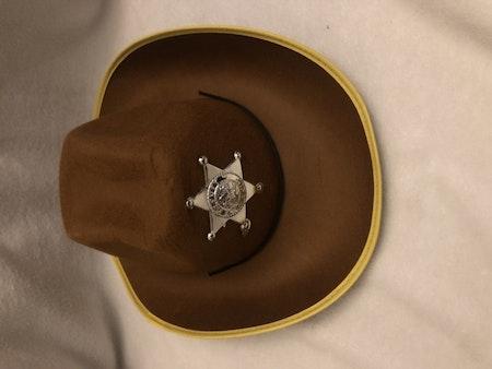 Cowboyhatt med stjärna