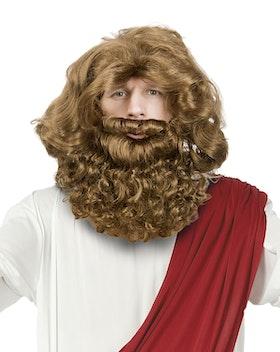 Jesusperuk och skägg