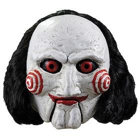 SAW ansiktsmask med hår Billy the Puppet Halloween Maskerad