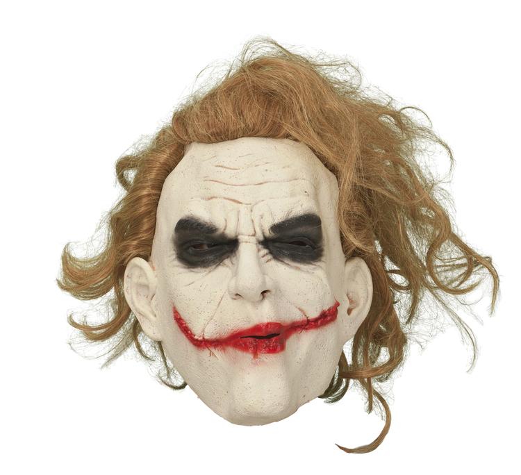 Jokern mask med hår Halloween
