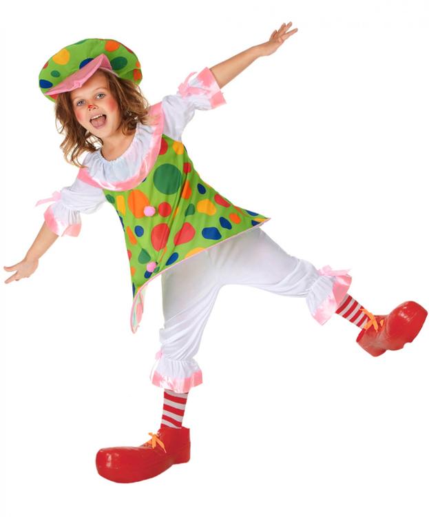 Clown Barn Maskeraddräkt Flerfärgad
