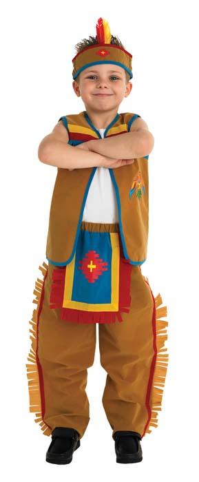 Indianhövding Pojke Barn Maskeraddräkt