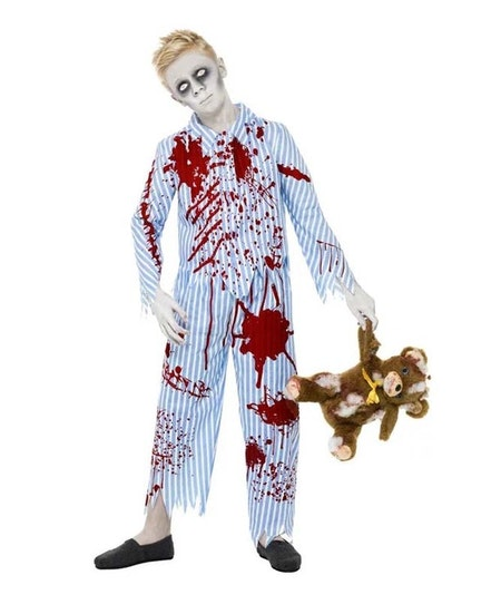 Zombie pyjamas pojke Maskeradkläder Halloween
