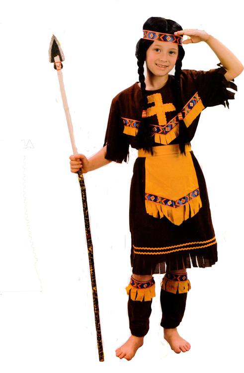 Indianflicka barn Maskeraddräkt
