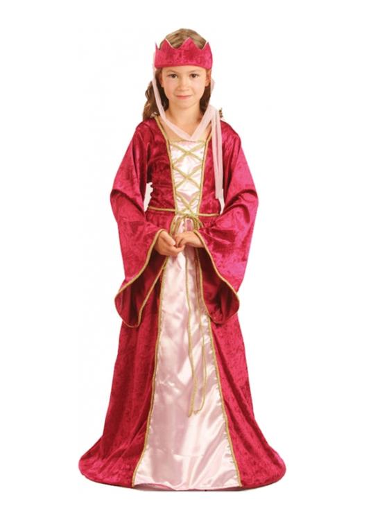 Renässans Prinsessklänning Drottning barn Maskeraddräkt