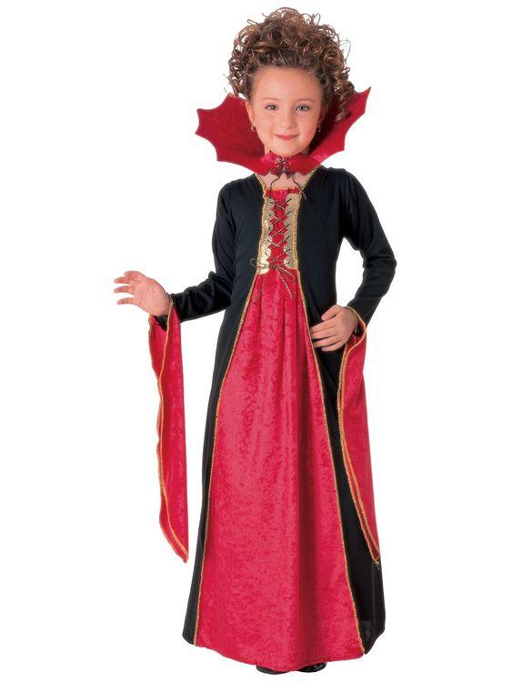 Gotisk vampyr prinsessa barn Maskeraddräkt