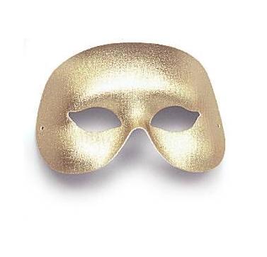 Halvtäckande guldmask