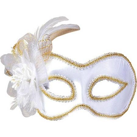 Vit/guld ögonmask