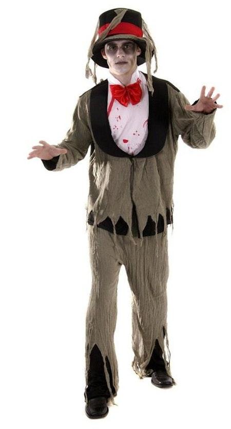 Zombie grävande gravskändare Maskeraddräkt Halloween