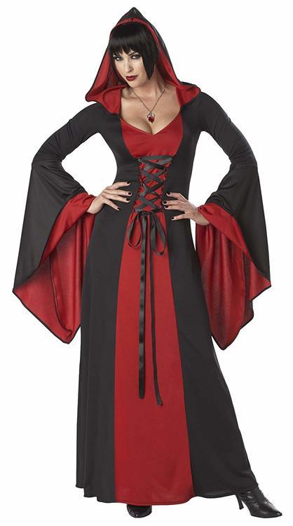 DeLuxe Hooded Robe Gothisk klänning Maskeraddräkt Halloween