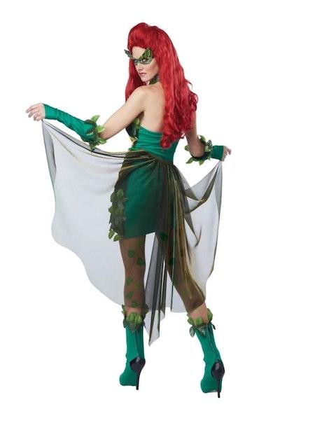 Superskurken Poison Ivy Giftblomman Maskeraddräkt