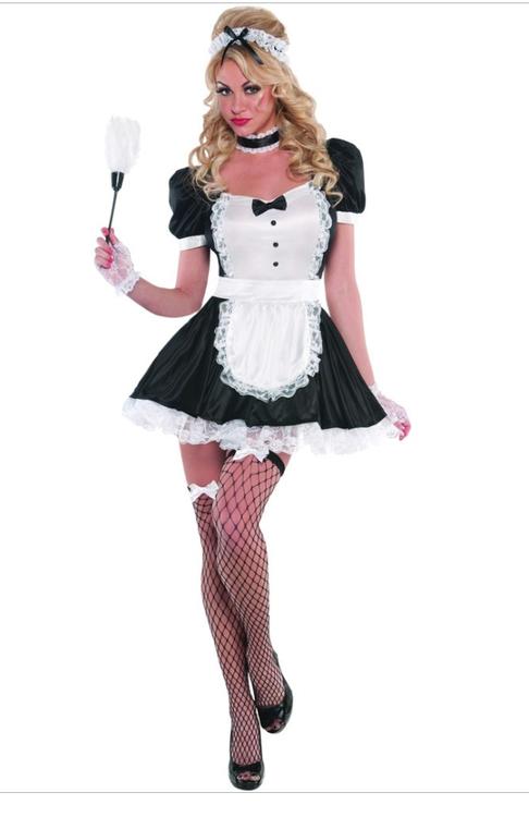 Sexig french sassy maid Maskeraddräkt