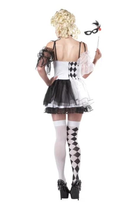 HarleyQuin Le Belle Svart/Vit Maskeraddräkt