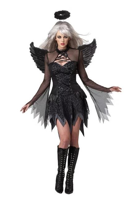Fallen Angel Deluxe Maskeraddräkt Halloween