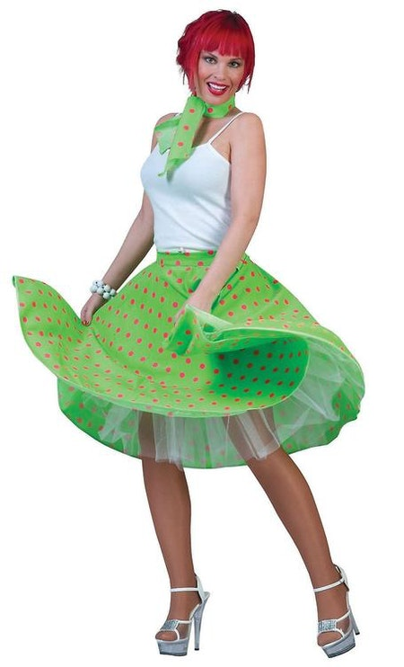 50-tals kjol Grön