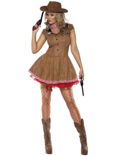 Sexig cowgirl Wild West Maskeraddräkt