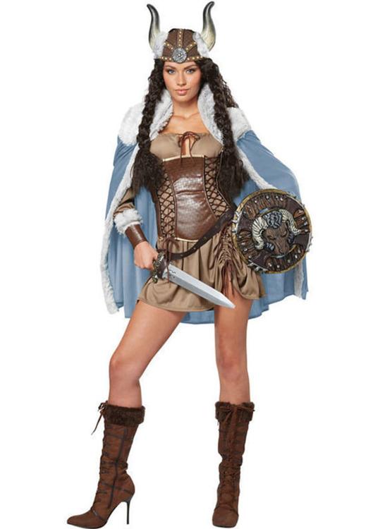 Viking krigare kvinna Maskeraddräkt