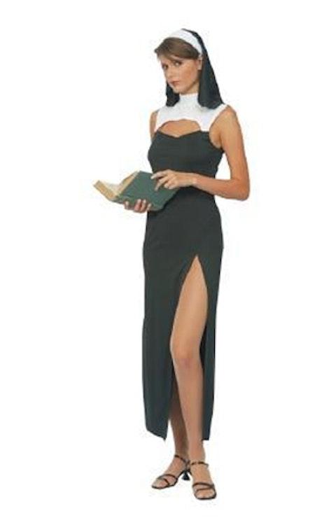 Nunna klänning med slits Maskeraddräkt